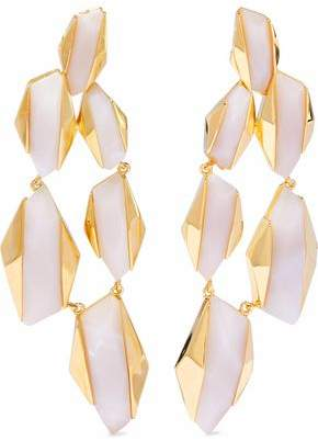Noir 14-Karat Gold-Plated Resin Earrings