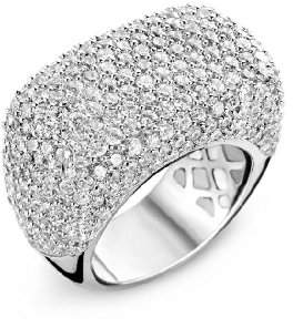 Alvina Ring 925 Sterling Silver /1000-12.7 g with Cubic Zirconia Silver