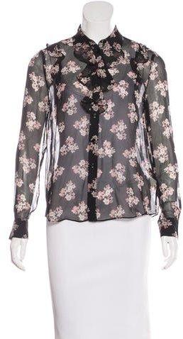 Kate Spade New York Silk Floral Print Blouse w/ Tags