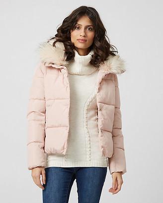 Le Château Faux Fur Collar Puffer Jacket