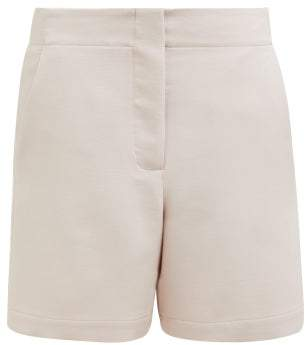 Raey Elasticated Back Wool Blend Shorts - Womens - Light Pink