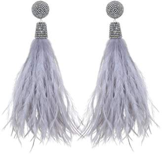 Suzanna Dai Feather Bead Earrings