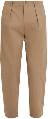 Valentino Logo-print cotton chino trousers