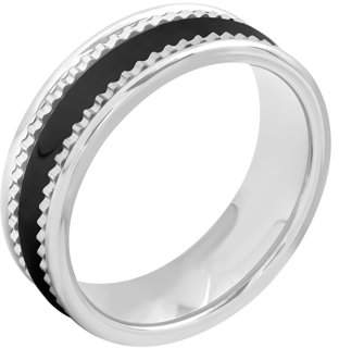Unbranded Men's Tungsten and Ceramic 7MM Two-Tone Wedding Band - Mens Ring