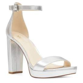 Nine West Dempsey Metallic Platform Sandals