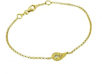 Yvonne Henderson Jewellery - Paisley Charm Bracelet With White Sapphires Gold