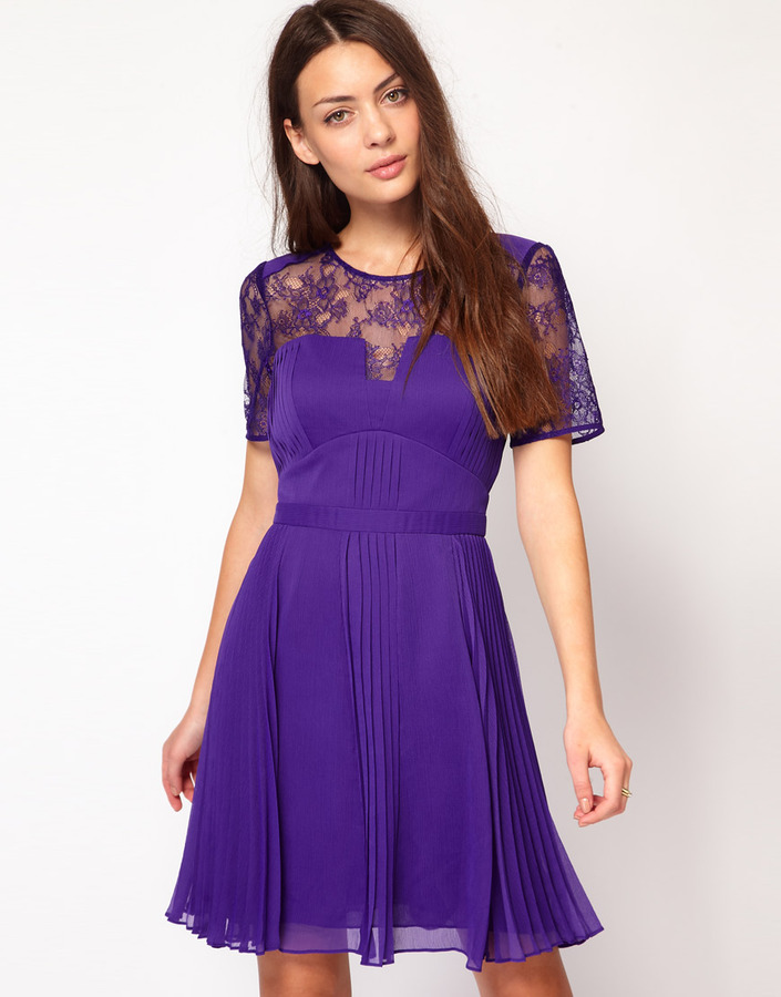 Whistles Clara Pintuck Dress
