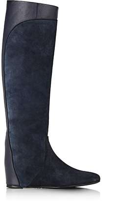 Lanvin Women's Hidden-Wedge Knee Boots $1,190 thestylecure.com