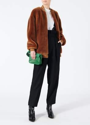 Tibi Luxe Tuxedo Paperbag Overalls with Detachable Straps