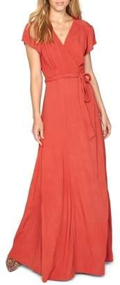 Amuse Society Beachscape Maxi Wrap Dress