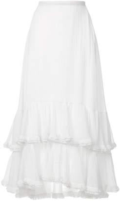 Chloé ruffle trim skirt