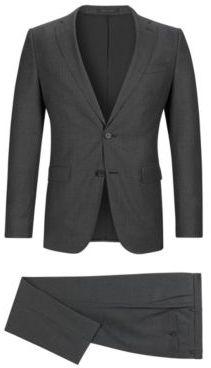 Hugo Boss Pinstripe Italian Wool Suit, Slim Fit Novan/Ben 38R Grey $895 thestylecure.com