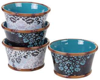 Certified International Exotic Jungle 4-Pc. Ice Cream Bowls asst.