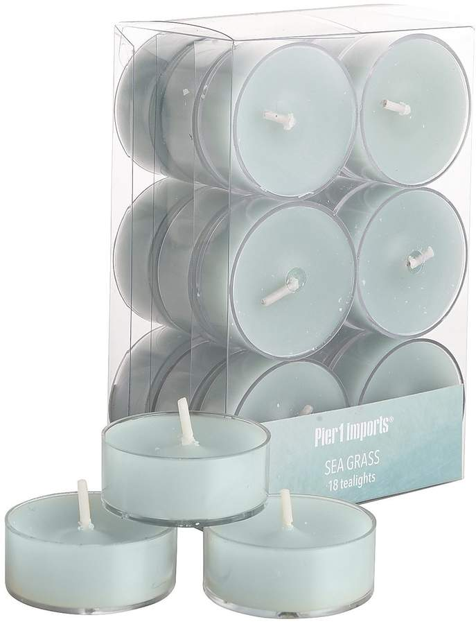 Sea Grass Tealight Candle Set of 18