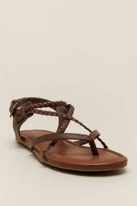 Mia Braided Rope Gladiator Sandal - Cognac