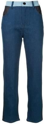Victoria Beckham Victoria patch detail jeans