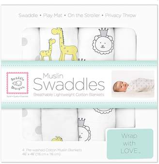 Swaddle Designs X-Large Cotton Muslin Swaddle Blankets Fox XOXO