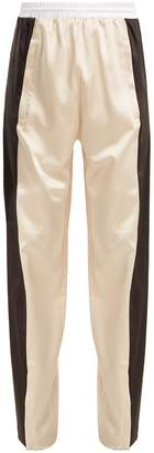 KOCHÉ Wide-leg stripe-panel trousers
