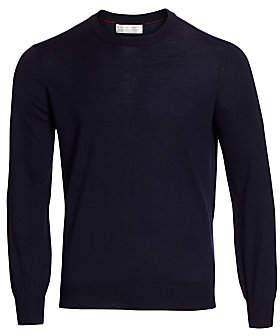 Brunello Cucinelli Men's Crewneck Elbow Patch Sweater