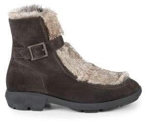 Aquatalia Marcello Rabbit Fur, Shearling & Suede Ankle Boots