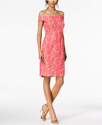 Vince Camuto Off-The-Shoulder Lace Dress