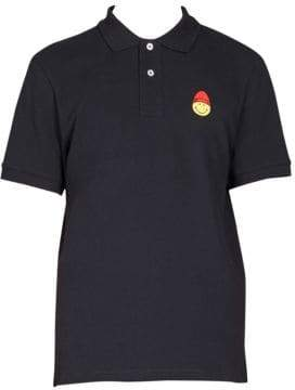 Ami Smiley Patch Polo Shirt