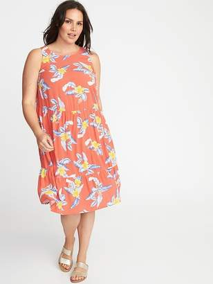 Old Navy Plus-Size Sleeveless Ruffle-Hem Waist-Defined Dress