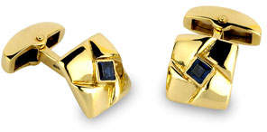Deakin & Francis Yellow-Gold Square Knot Cuff Links