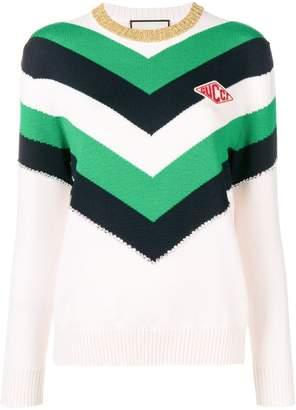 Gucci colour block knit sweater