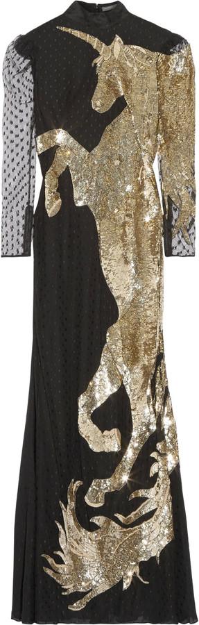 Alexander McQueenAlexander McQueen Sequin-embellished tulle gown