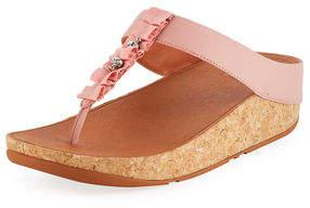 FitFlop Ruffle T-Strap Platform Sandal