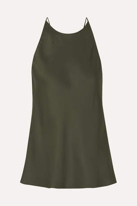 Rosetta Getty Draped Satin Camisole