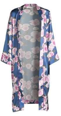 Fleur Du Mal Floral Silk Robe