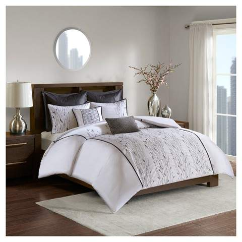 Devin Embroidered Duvet Cover Set 7pc