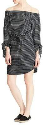 Lauren Ralph Lauren Striped Off-the-Shoulder Dress
