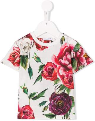 Dolce & Gabbana peony print T-shirt