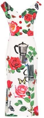 Dolce & Gabbana Printed stretch-cotton dress