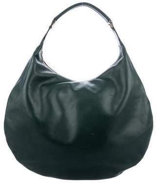 Valextra Namaste Leather Hobo