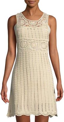 Astr Maya Crochet Sheath Dress