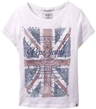 Pepe Jeans Girls Duma Crew Neck Short Sleeve T-Shirt