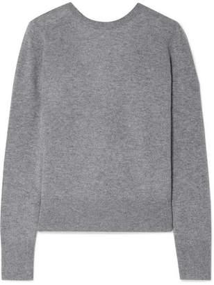 Equipment Dante Wrap-effect Cashmere Sweater - Gray