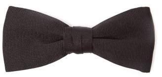 Saint Laurent Textured Silk Bow Tie - Mens - Black