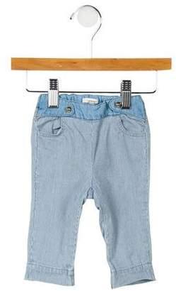 Chloé Girls' Pinstripe Denim Jeans