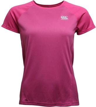 Canterbury of New Zealand Womens VapoDri Training Top Fuchsia Red Marl