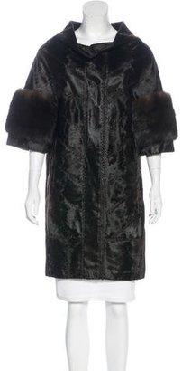 J. Mendel Fur Knee-Length Coat