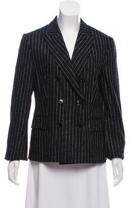Hache Double-Breasted Striped Blazer w/ Tags