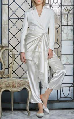 Bea Yuk Mui Danielle Frankel Bridal Crepe Cocktail Jacket