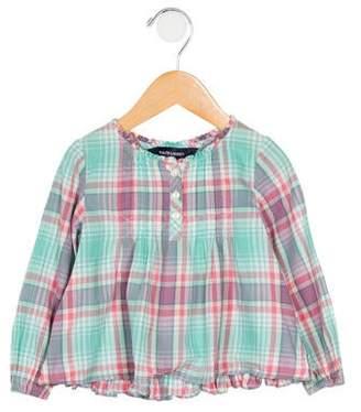 5ab767d0d Ralph Lauren Girls' Plaid Ruffle-Trimmed Shirt