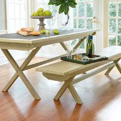 Zinc-Inlay Table