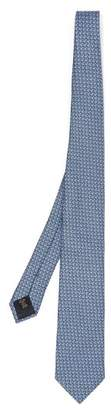 Ermenegildo Zegna Paisley Print Silk Tie - Mens - Blue Multi
